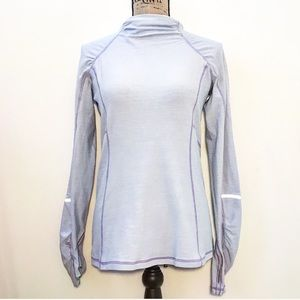 Lululemon cowl neck reflective long sleeve shirt